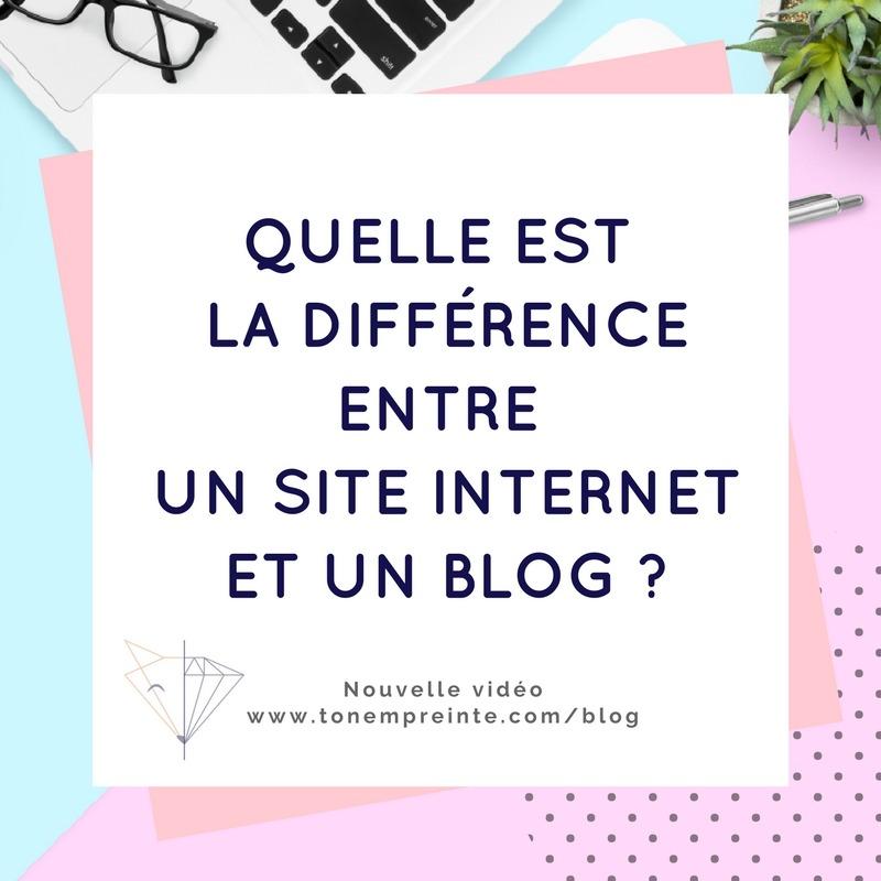 Connaissez-vous la différence entre un site internet et un blog ?