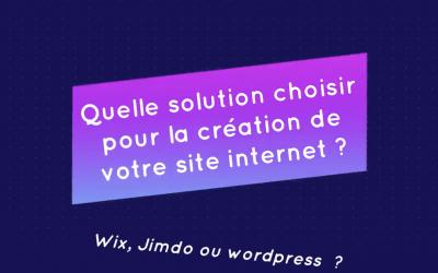 Pourquoi je vous déconseille de choisir Wix ou Jimdo pour votre site Internet ?