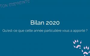 Bilan de mon année 2020