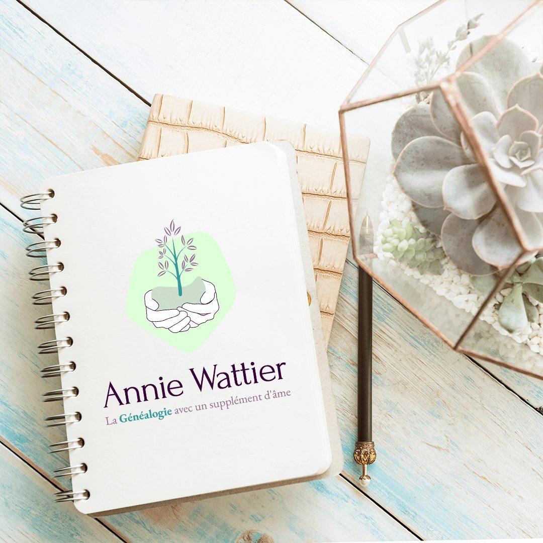 Création image de marque : Annie Wattier