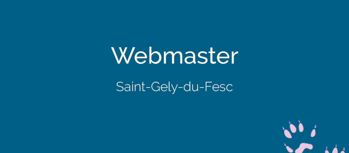 Webmaster à Saint-Gely-du-Fesc