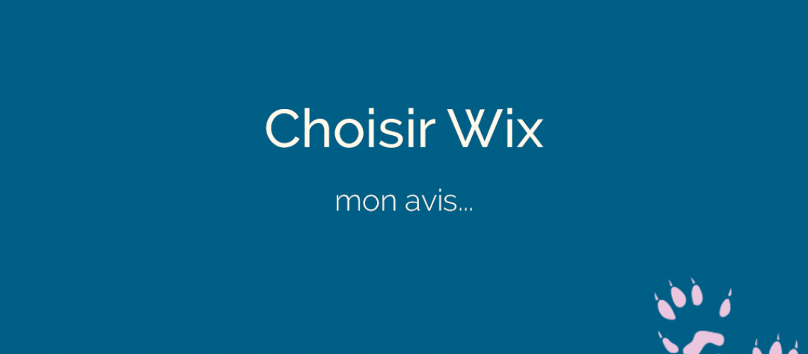 choisir Wix pour votre site Internet - ton empreinte