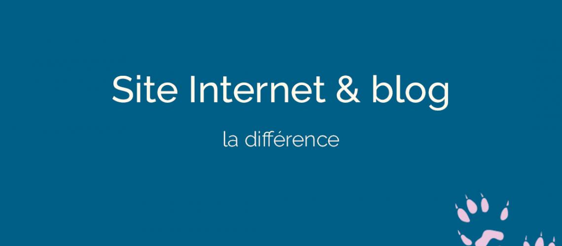 différence entre un site internet et un blog - ton empreinte